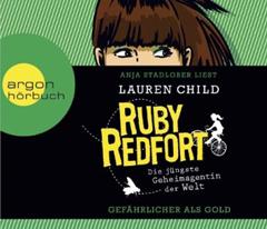 """CD-Cover """"Ruby Redfort - Gefährlicher als Gold"""" von Lauren Child"""