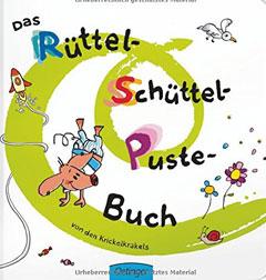 """Buchcover """"Das Rüttel-Schüttel-Puste-Buch"""" von den Krickelkrakels"""
