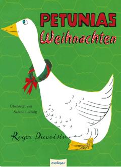 """Buchcover """"Petunias Weihnachten"""" von Roger Duvoisin"""