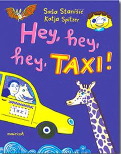 "Buchcover ""Hej, hej, hej, Taxi!"" von Sasa Stanisic"